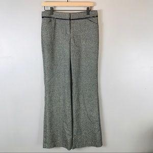 Express Editor pants wool blend herringbone 4 gray